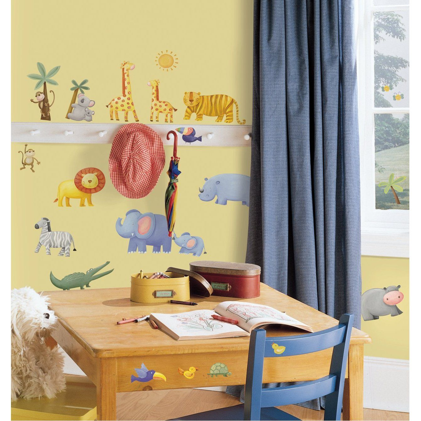 Jungle Adventure Peel & Stick Wall Coverings | Kids\' Space Ideas ...