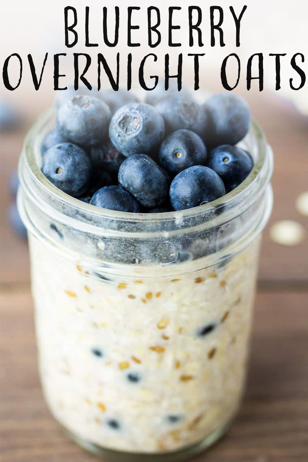 Blueberry Overnight Oats are the perfect breakfast recipe to simplify your mornings! They are a ...