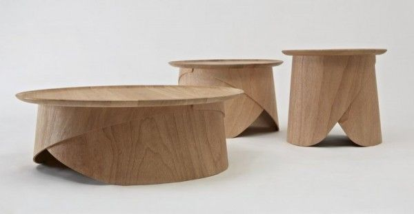 Simple Wooden Coffee Table With Legs Made Of Bent Plywood Plywood Coffee Table Coffee Table Wooden Coffee Table