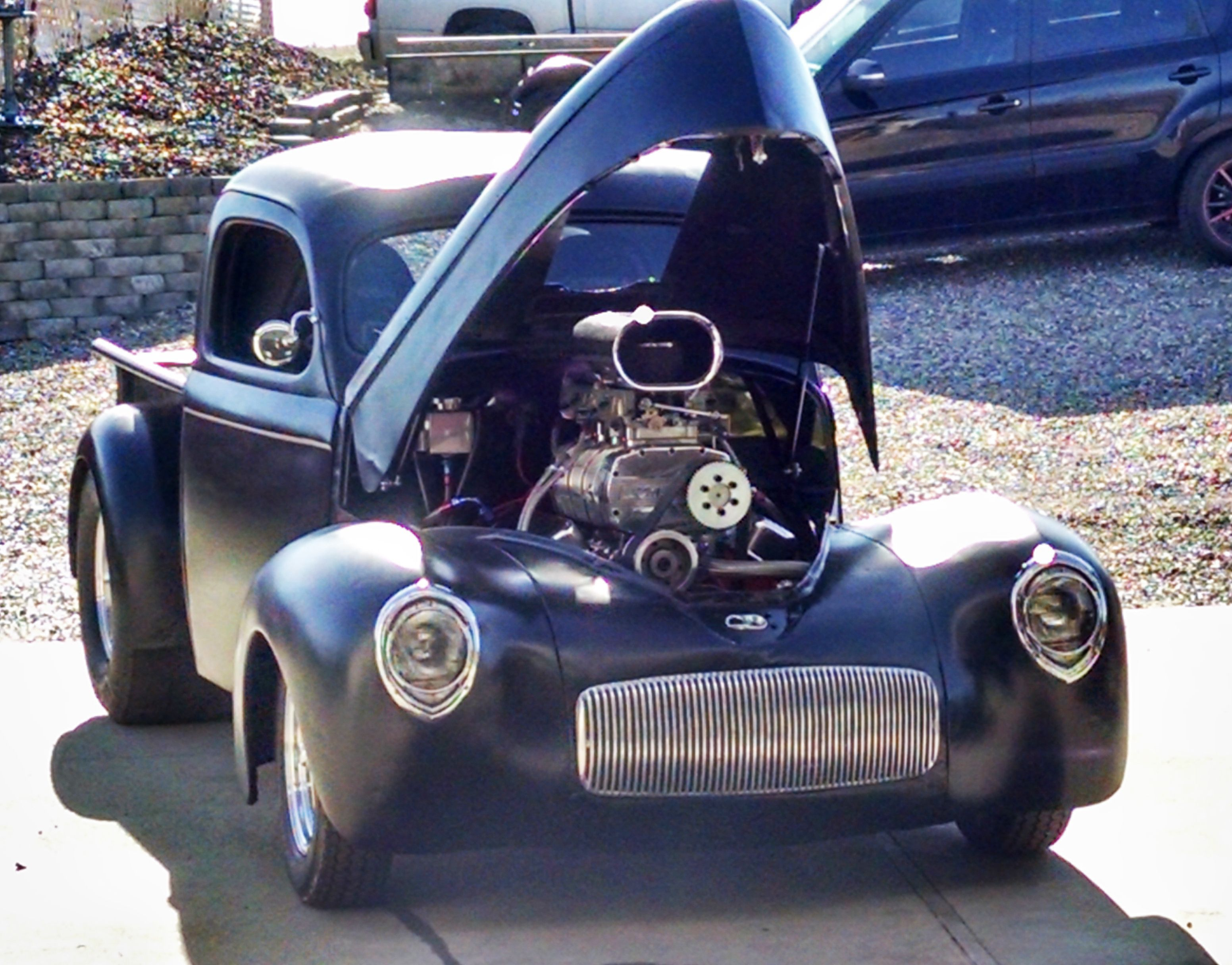 Pro street 1941 willys pickup blown 540 cubic inch big block chevy tube chassis 4 link my willy bad willys pinterest chevy