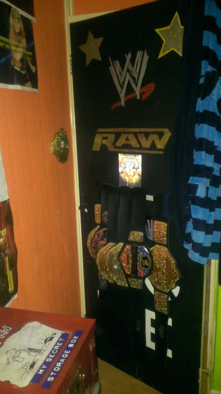 Wrestling Room Design: Door I Painted For My Wrestling Fanatics/just One Of The