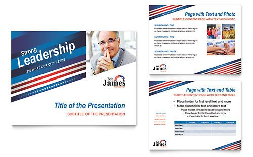 Political Campaign Powerpoint Presentation Template By