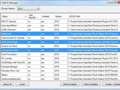 Revit Add-Ons: Free and Open-Source Add-in Manager – Disable