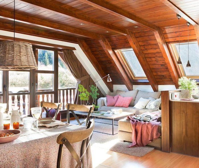 1001 ideen f r einrichtung von einer mansarde wohnideen pinterest esstisch landhausstil. Black Bedroom Furniture Sets. Home Design Ideas
