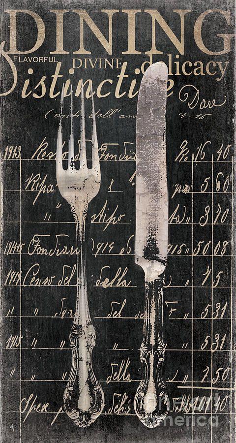 Vintage Dining Utensils In Black By Grace Pullen Vintage