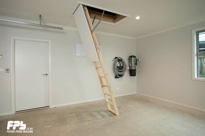 FAKRO Wooden Attic Stairs from HomeTech (.hometech.co.nz) Inconspicuous at the ceiling level Fakro Attic Stairs from HomeTech integrate flush into your ... & FAKRO Wooden Attic Stairs from HomeTech (www.hometech.co.nz ...