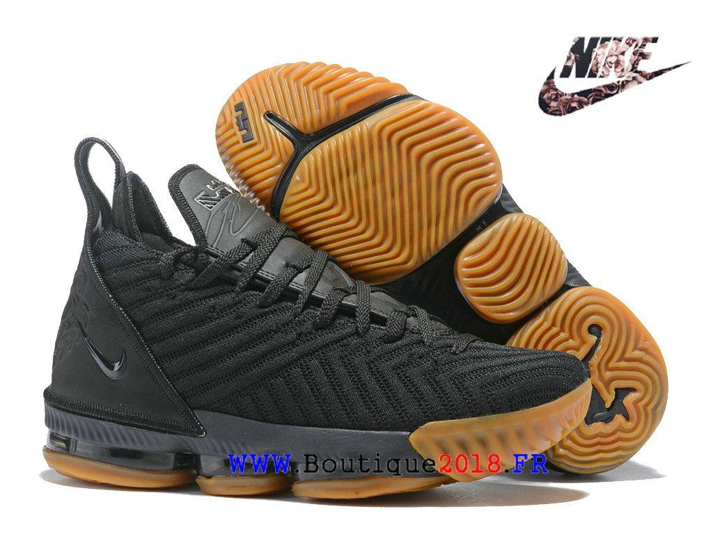 sports shoes 64c61 bf32e Les sports Chaussures De BasketBall Nike LeBron 16 Pas Cher Homme Brun noir  AO2588 I109-1810160934