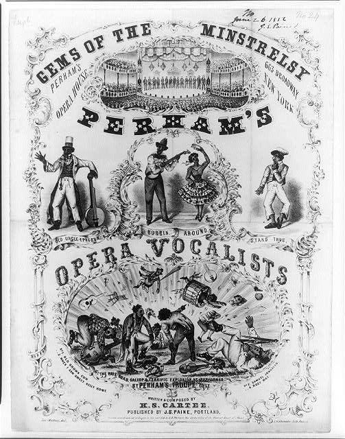 Gems of the minstrelsy, Perham's opera vocalists