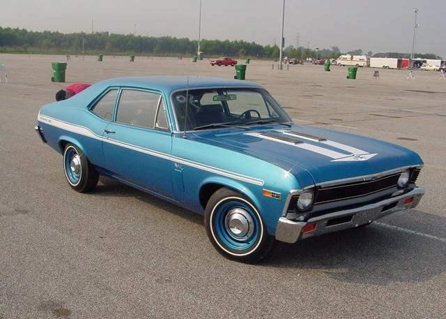 1969 Chevrolet Nova Yenko Syc 427 Cid 425 Horsepower Big Block Blue With White Stripes Chevy Muscle Cars Chevy Nova Chevy