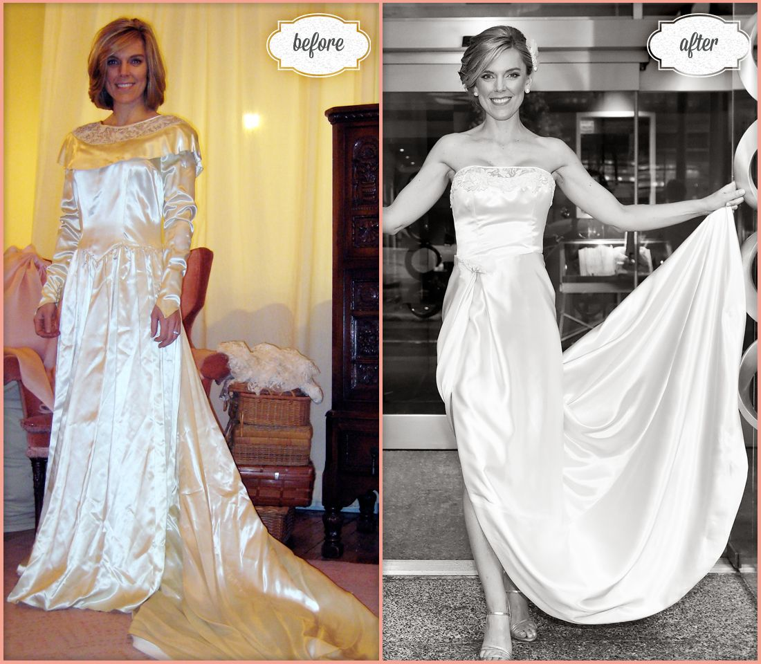 Not Your Grandmother's Wedding Dress! Bride Jennifer Wore
