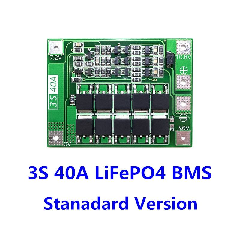 4A 9.6V PCB Protection Circuit Board for 18650 LiFePO4 LiFe Battery Pack Cell 3S