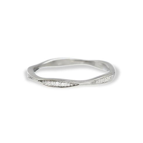 Greenwich Jewelers Jude Frances Five Leaves Diamond Wedding Band
