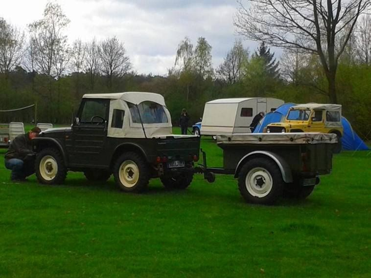 Nice compact Suzuki and matching trailer setup, just the