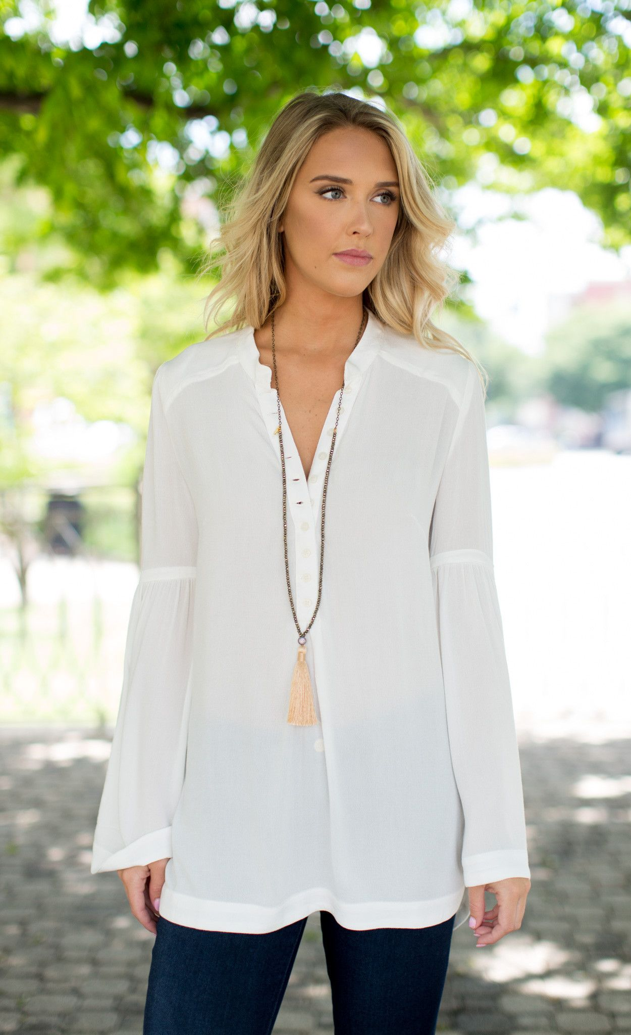 Free People Easy Girl Buttondown Tunic from Cheeky Peach Boutique