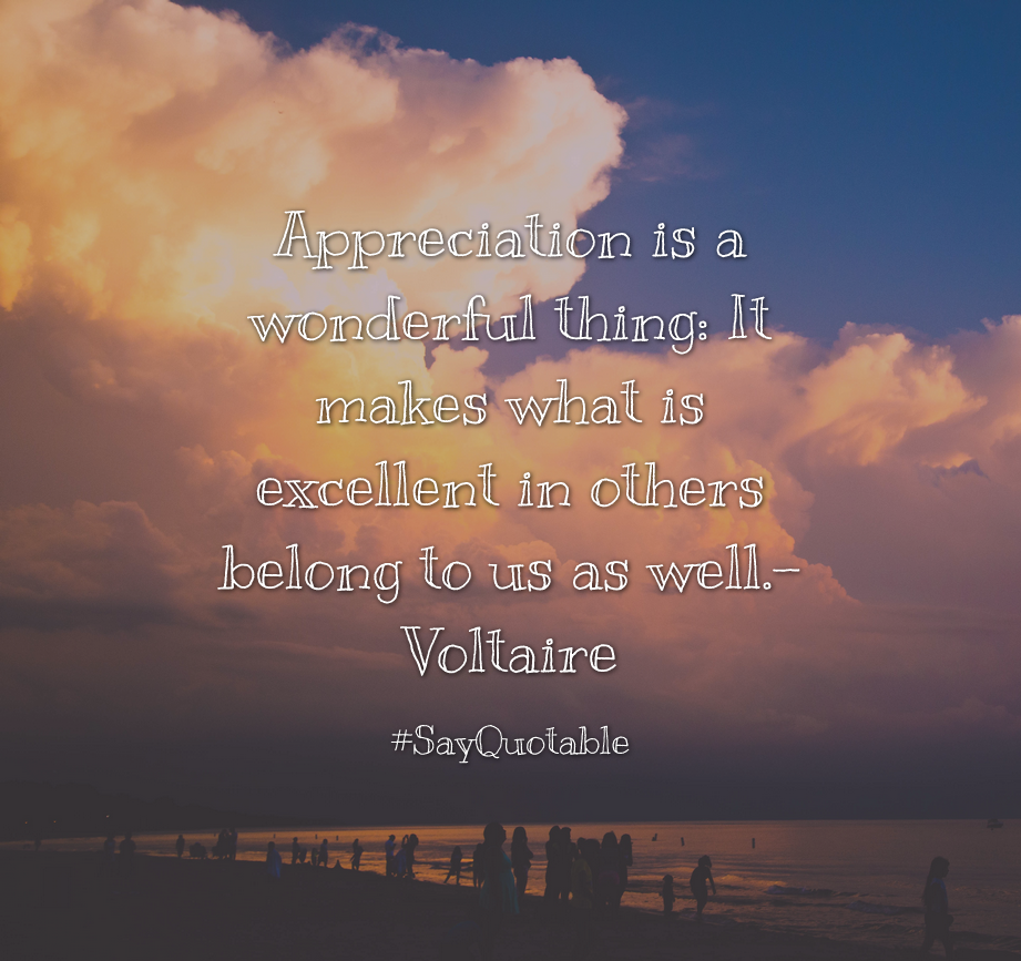 Life Quotes Hd: Quotes About Appreciation Is A Wonderful Thing: It Makes