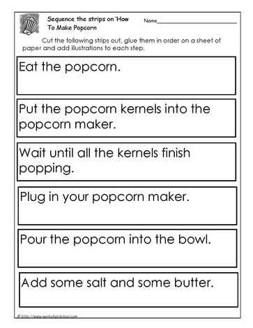Procedure How To Make Popcornworksheets