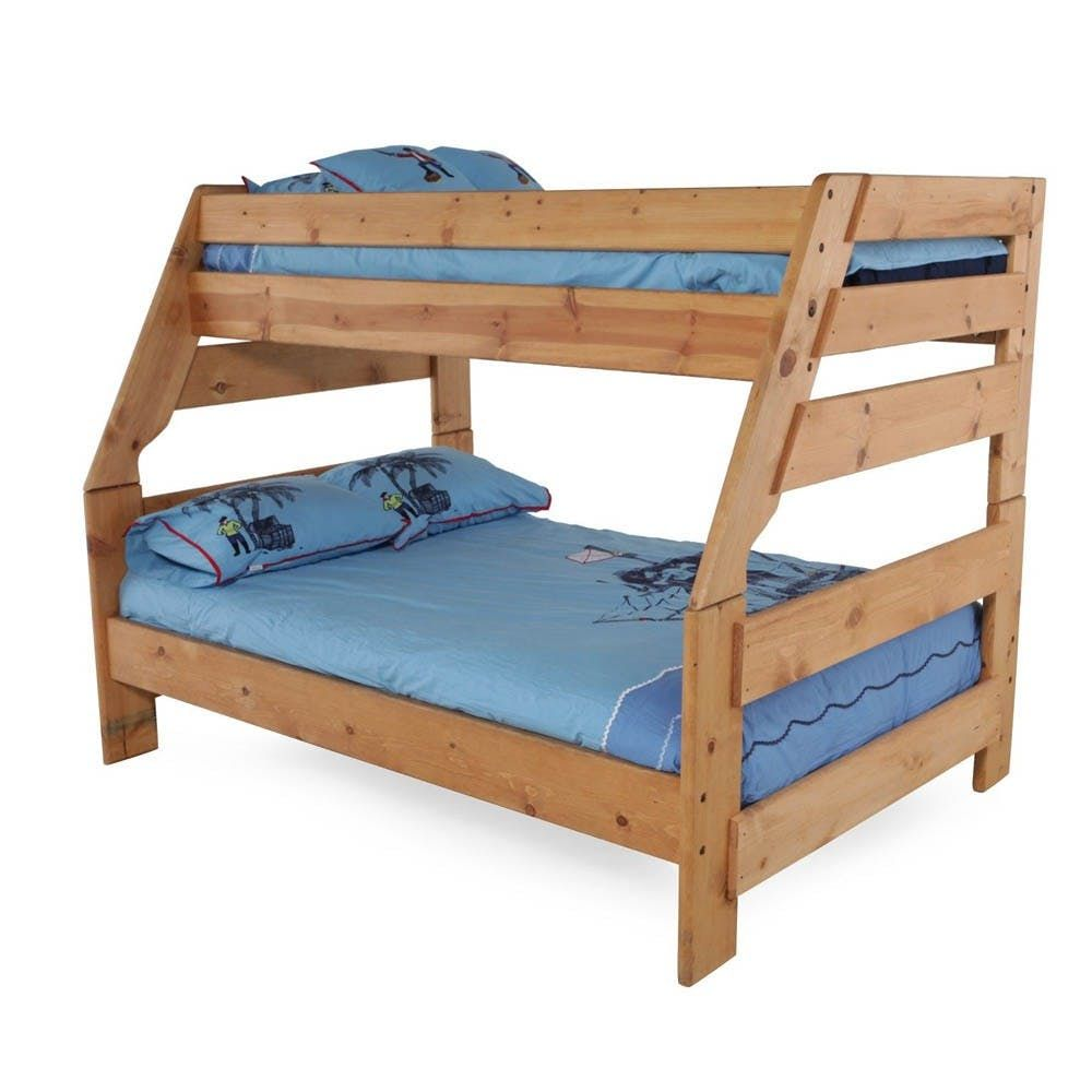 Bunkhouse twin over full bunk bed wood bunk beds bunk