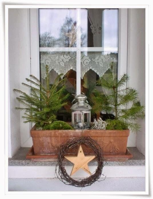 Die besten 25 dekoration weihnachten tannenzweige ideen auf pinterest herbst haust ren ast - Weihnachtsdeko fensterbank ...