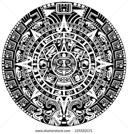Vector Of Mayan Calendar On White Background Pottery Ideas For The