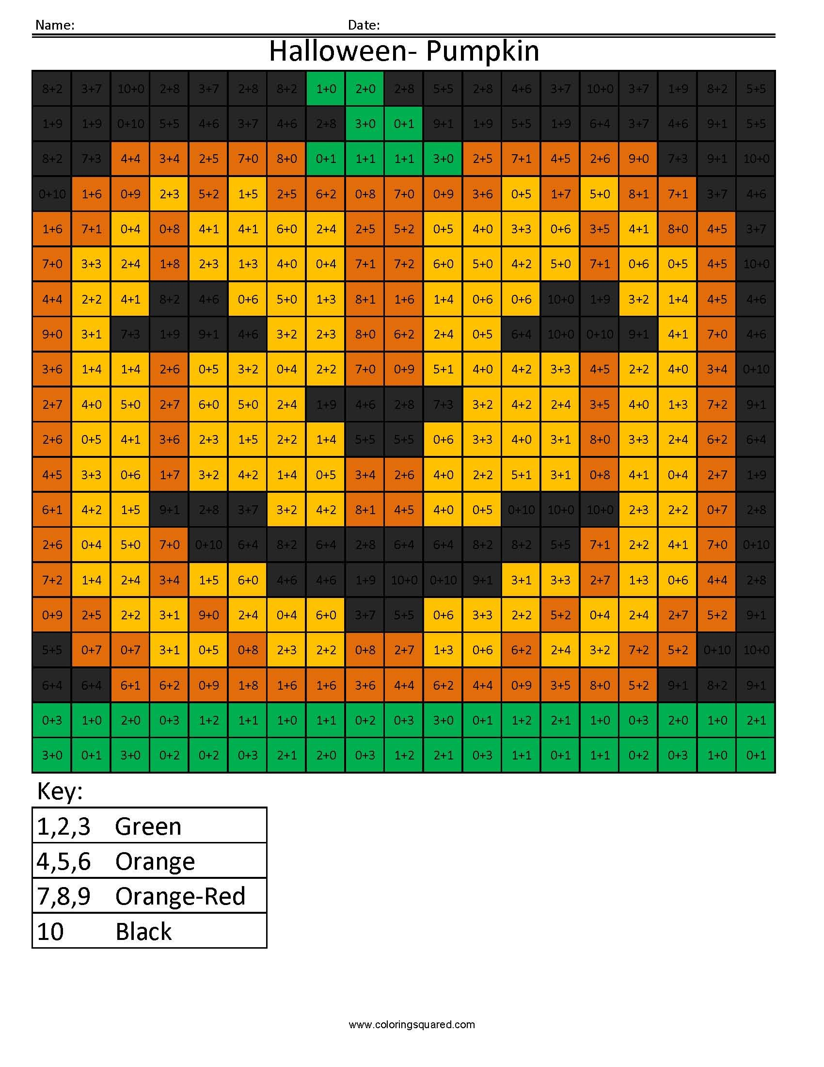 Halloween Pumpkin- Holiday Addition | Coloring Squared | Pinterest ...