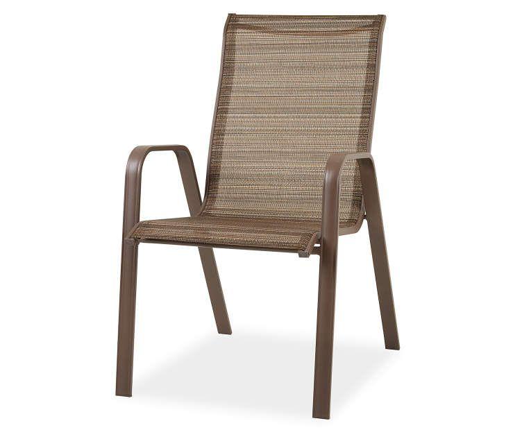 Wilson Fisher Boca Brown Sling Stacking Outdoor Dining Chair With Images Outdoor Dining Chairs Dining Chairs Outdoor Dining Spaces
