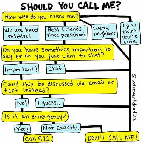 should you call   no | Introvert Pics | Introvert problems