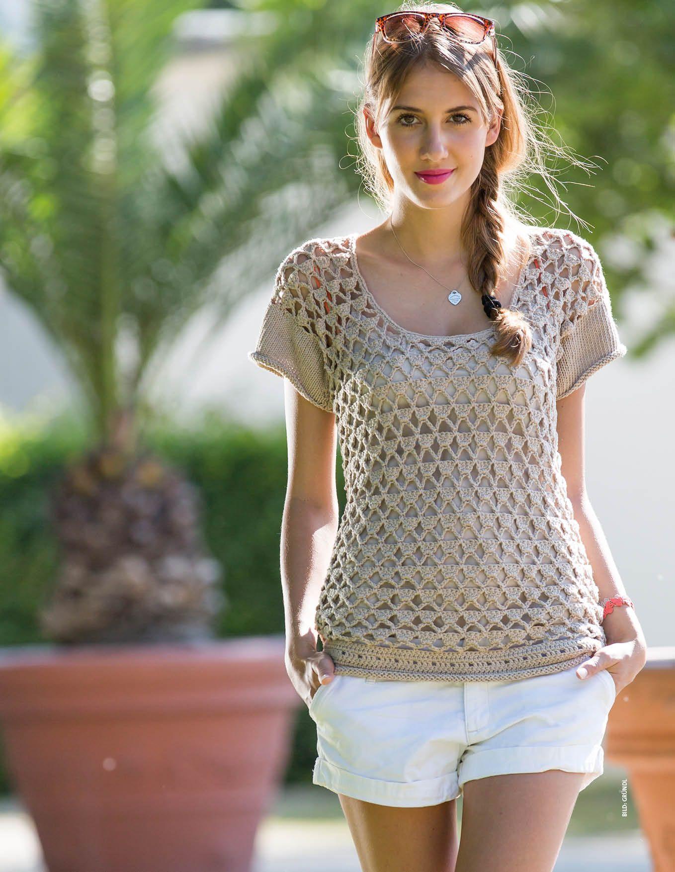 Sommerlich-frisch mit Hotpants | Sommer-Strick | Pinterest | Frisch ...