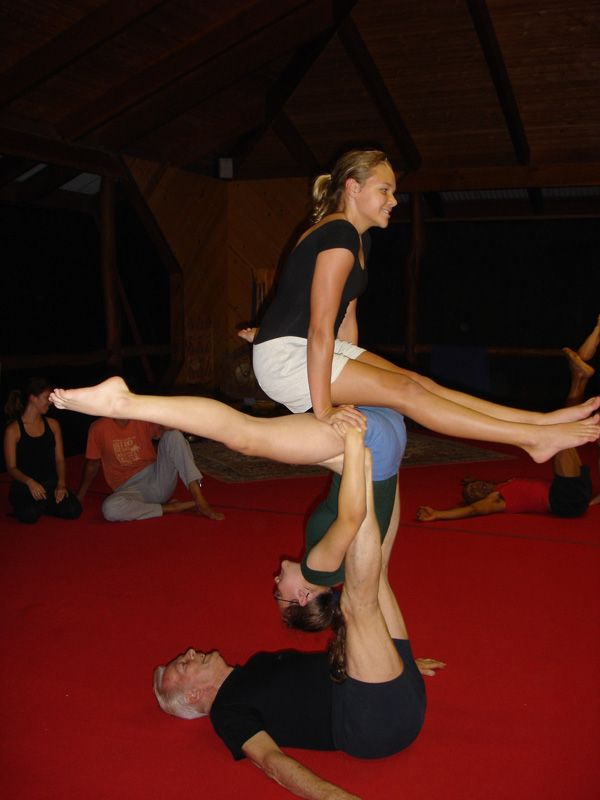 Acro Yoga Interesting 3 Person Move Acro Acro Yoga