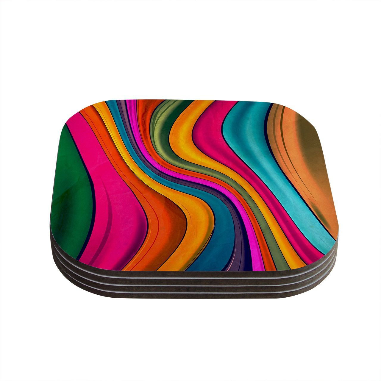 "Danny Ivan ""Lov Color"" Coasters (Set of 4)"