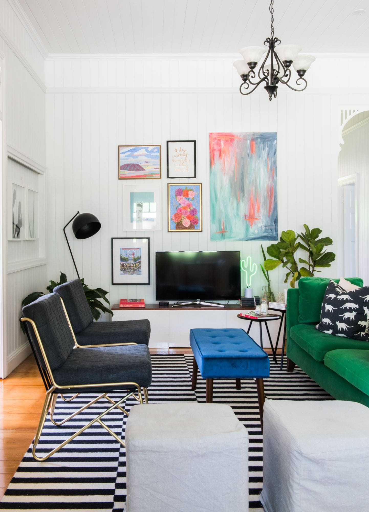 Cats u bright colors in an eclectic modern country home home fab