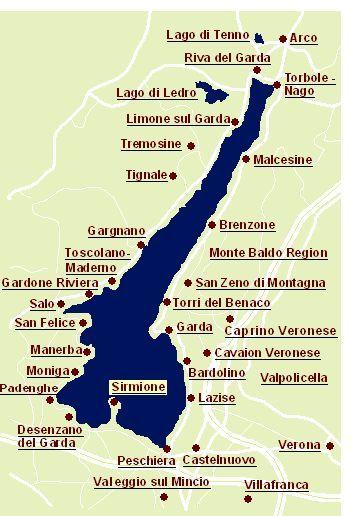 Gardasee Karte Hotellerie Gardasee Hotel Hotellerie Karte