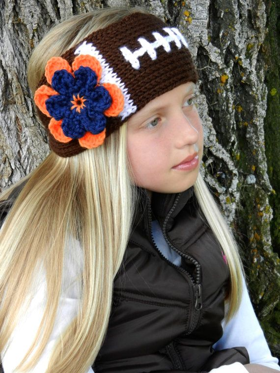 Crochet Football Headband Earwarmer Pattern -Tunisian Crochet Football  Headband Pattern - Instant Download e4e989082bb