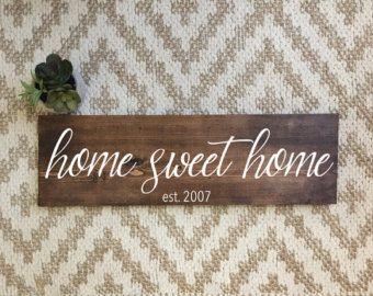 Wooden Home Signs Decor Farmhouse Decor  Etsy  H O M E  D E C O R  Pinterest  Wood