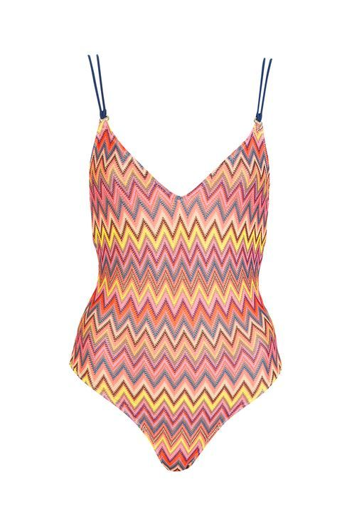 8ce94a0e1f Strappy Zig Zag Swimsuit - Holiday Shop - Clothing - Topshop   SS 17 ...