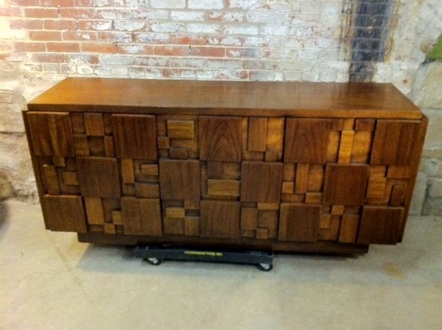 Credenza For Sale Perth : Vintage lane furniture mid century modern cubist mosaic line dresser