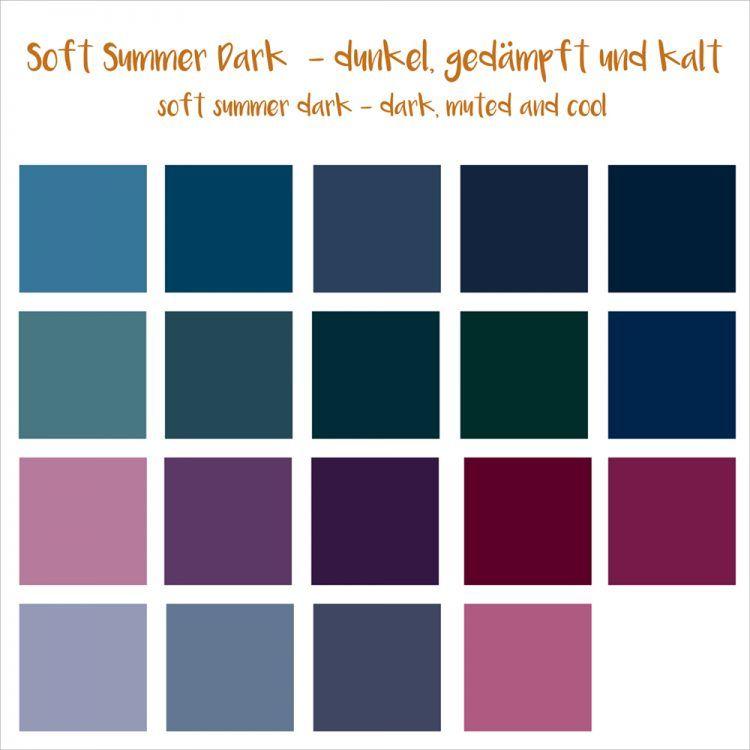 soft summer dark (16 er)   Farbtypen   Pinterest   Sommertyp ...