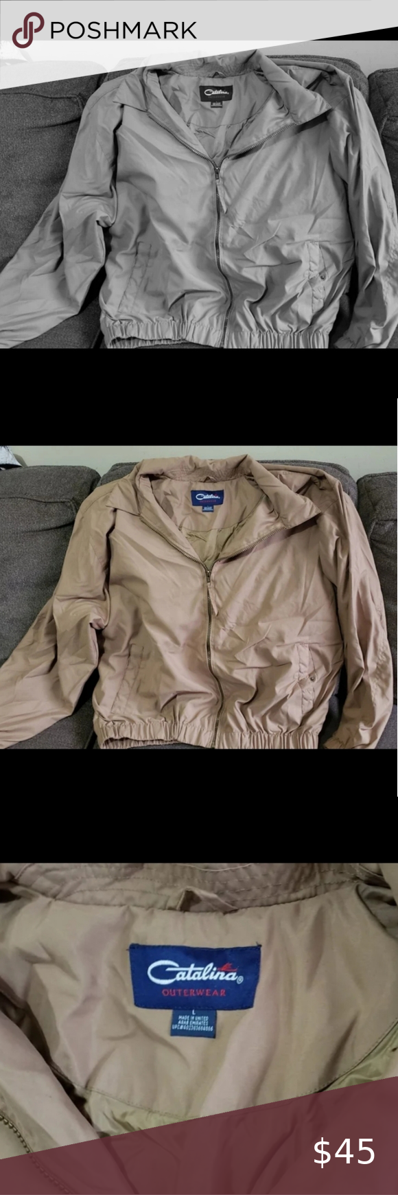 Vintage Catalina Outerwear Means Jacket Large Mens Zip Up Jackets Jackets Outerwear [ 1740 x 580 Pixel ]