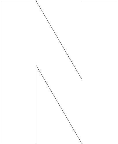 N - Free Printable Upper Case Alphabet Template