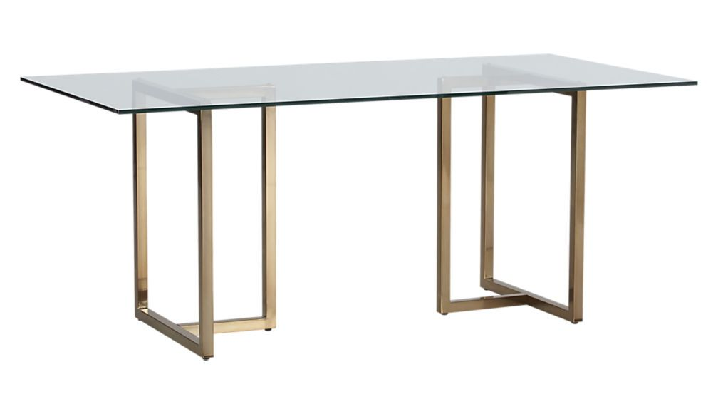 Silverado 72 Rectangular Dining Table Reviews Cb2 Brass