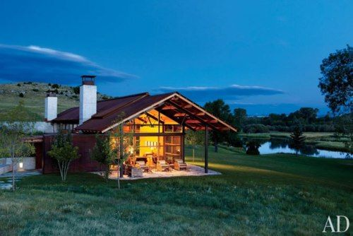Modern Montana prairie home by Lake/Flato Architects. Architectural Digest.