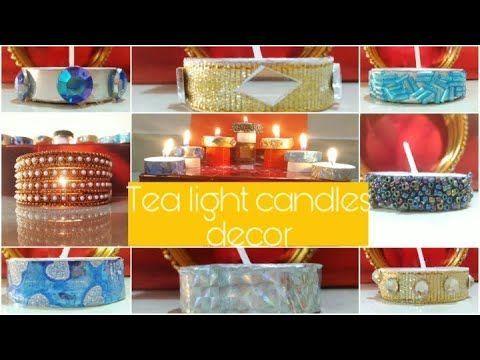 Diwali Teelicht Kerzen Dekor | Einfache und günstige Diwali Dekorationsideen Diwali Hausdekor...
