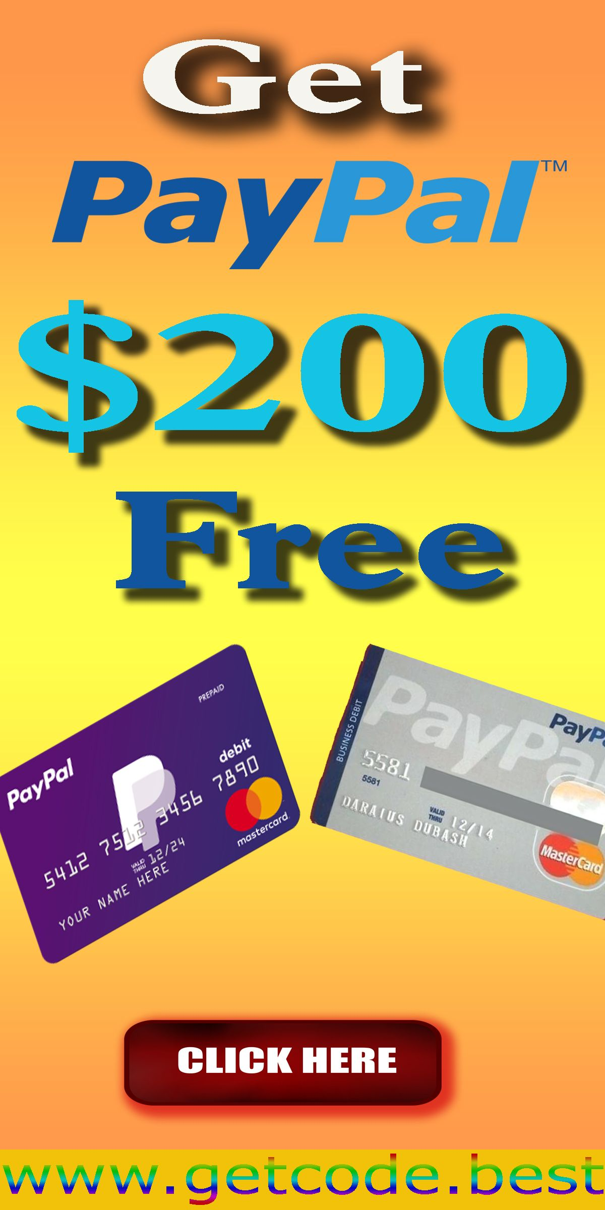 Free paypal gift card in 2020 paypal gift card free