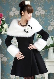 Gorgeous Lady Woolen Coat/Dress