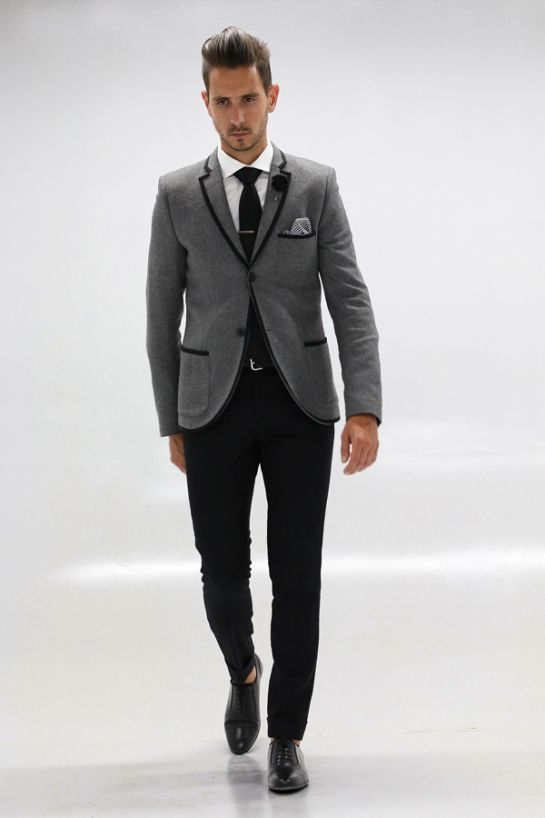 Gray Tux With Black Pants Google Search Wedding Outfits
