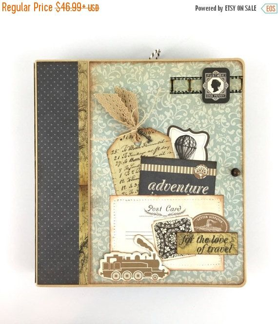 This Vintage Travel Themed Scrapbook Album Is Available As A Diy