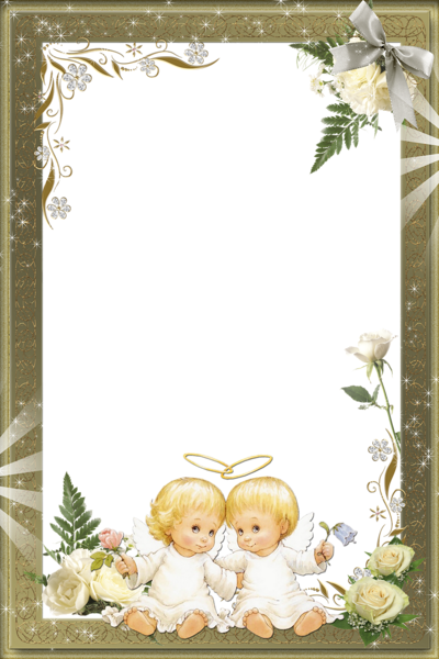 Beautiful Transparent Photo Frame with Angels | Bordes, Recuadros y ...