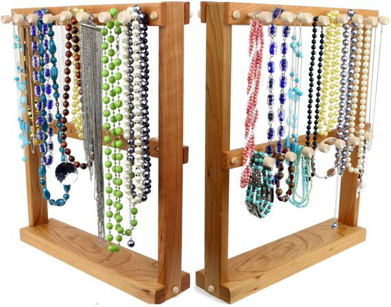 Jewelry Holder Necklace Rack Double By Tomsearringholders Diy Stand Display