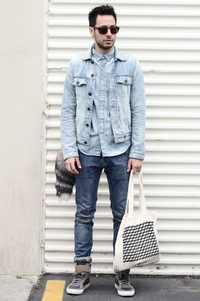 1000  images about DENIM JACKET: HOW TO WEAR on Pinterest | Men