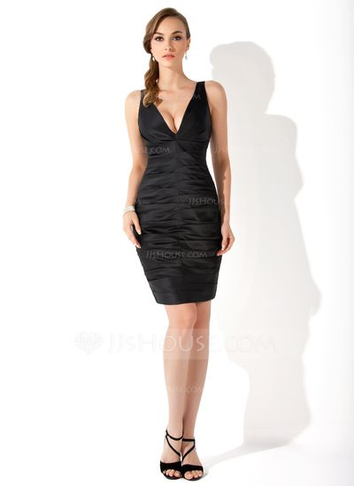 Vestido tubo negro corto