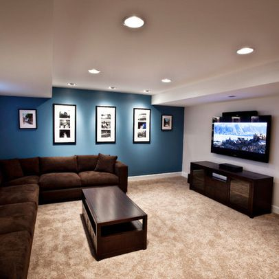 Awesome Basement Remodel Decorating Ideas Sleek Minimalist Media Room Brown Sofa Foxgate Renovation SQUAR ESTATE Architecture Inspiration Like
